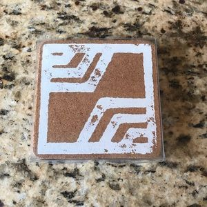 NWT, cork coasters set of 4